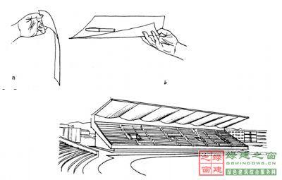 """这种原理被结构设计师使用到建筑中,进而出现了""""悬壁梁""""的结构体系."""